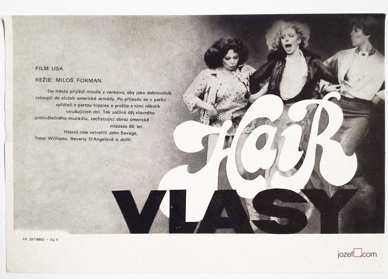 Milos Forman, Hair poster, 70s poster