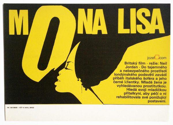 Mona Lisa Movie Poster, 1980s poster design