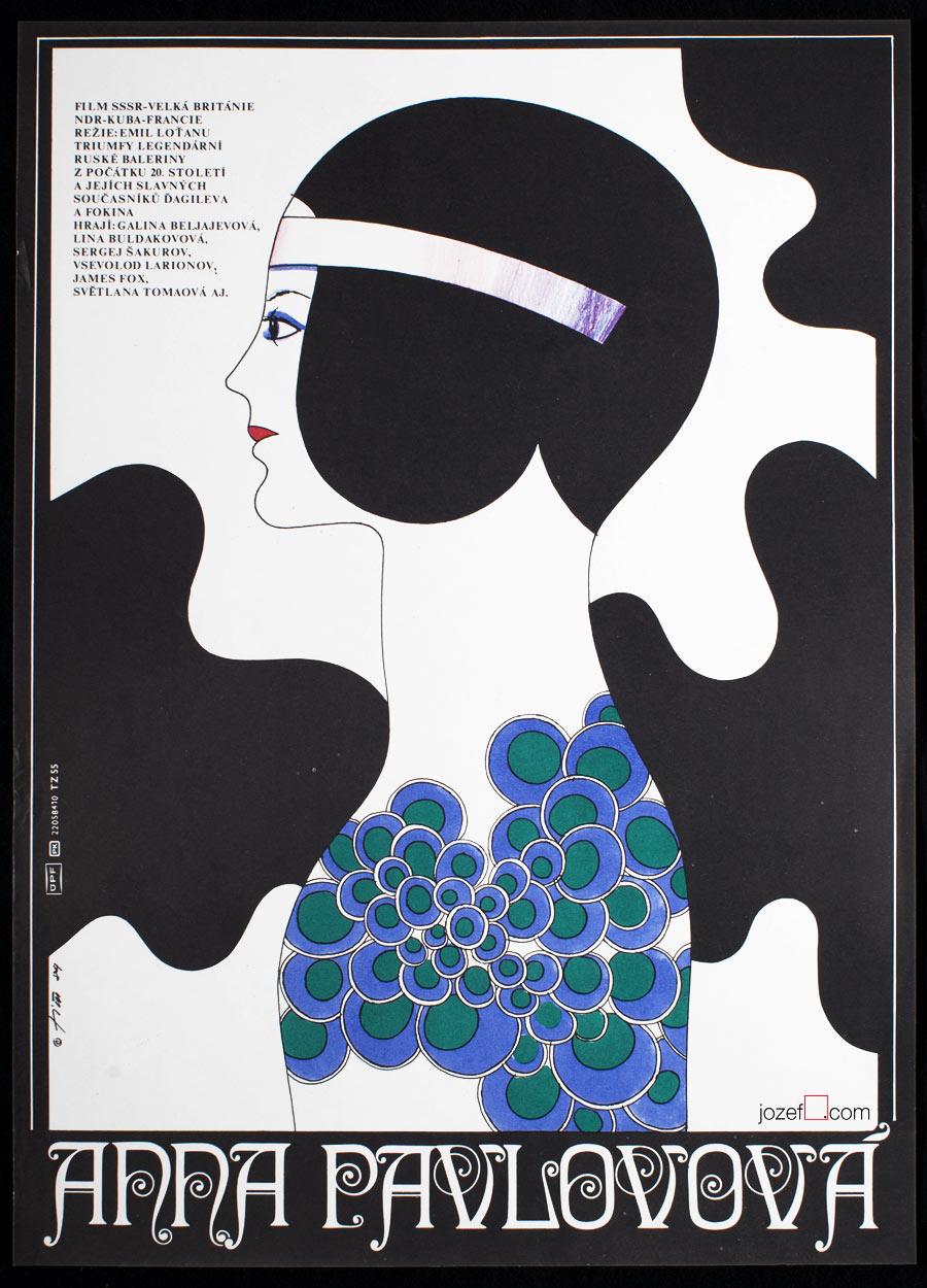 Vintage Movie Poster, Anna Pavlova