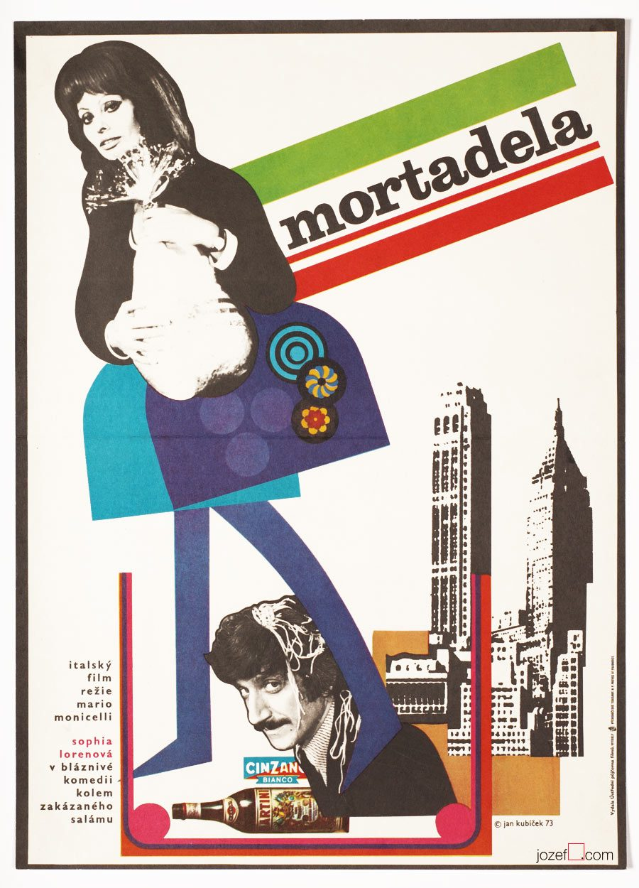 Minimalist film poster, La Mortadella
