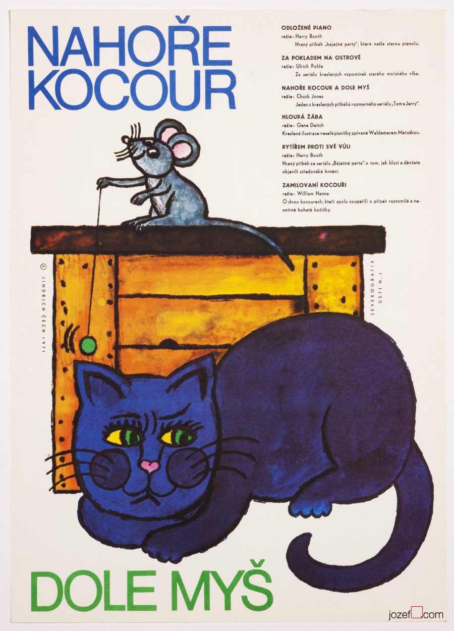 Kids poster, The Cat Above and the Mouse Bellow