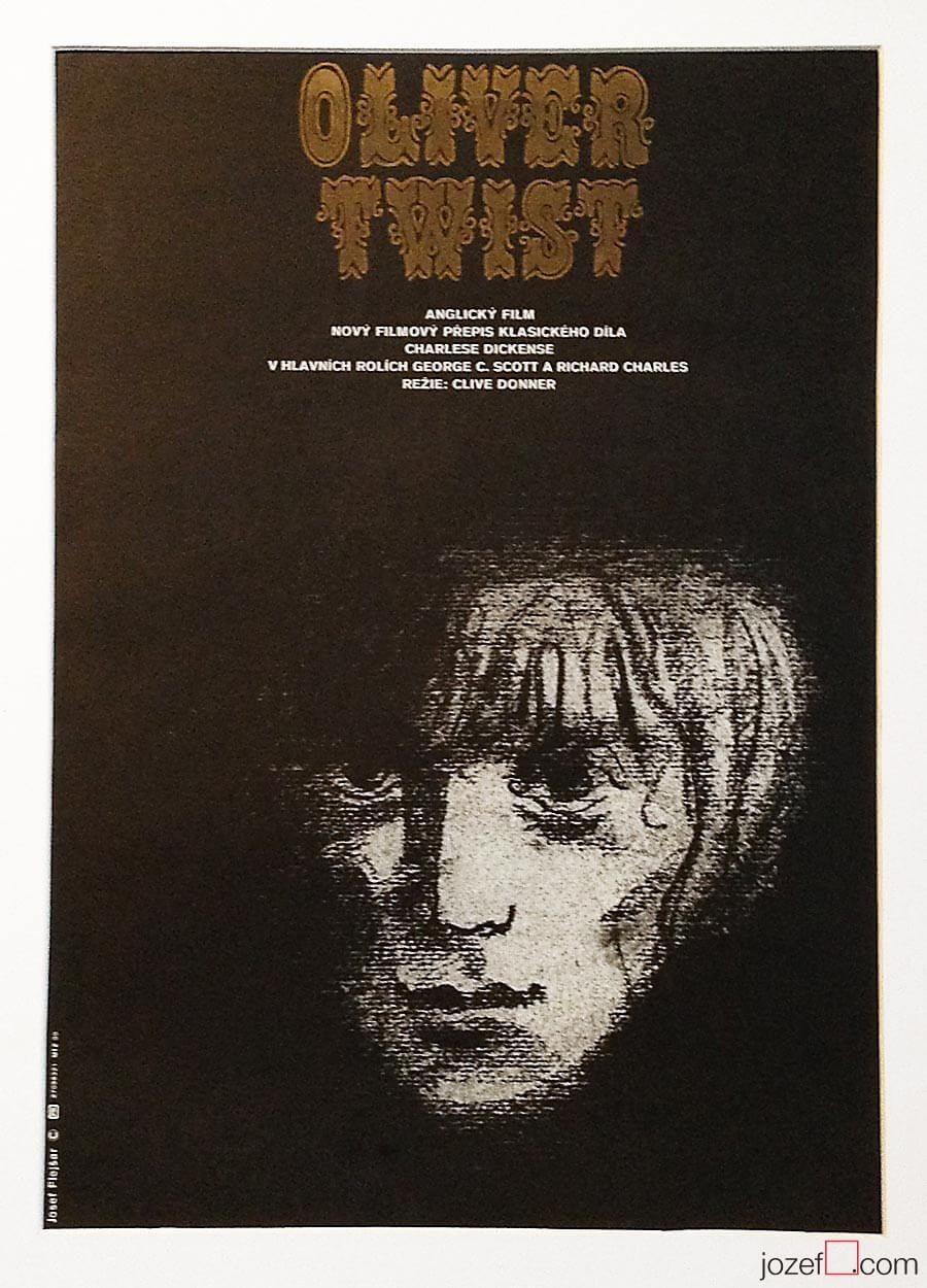Vintage poster, Oliver Twist, 1980s Poster Art