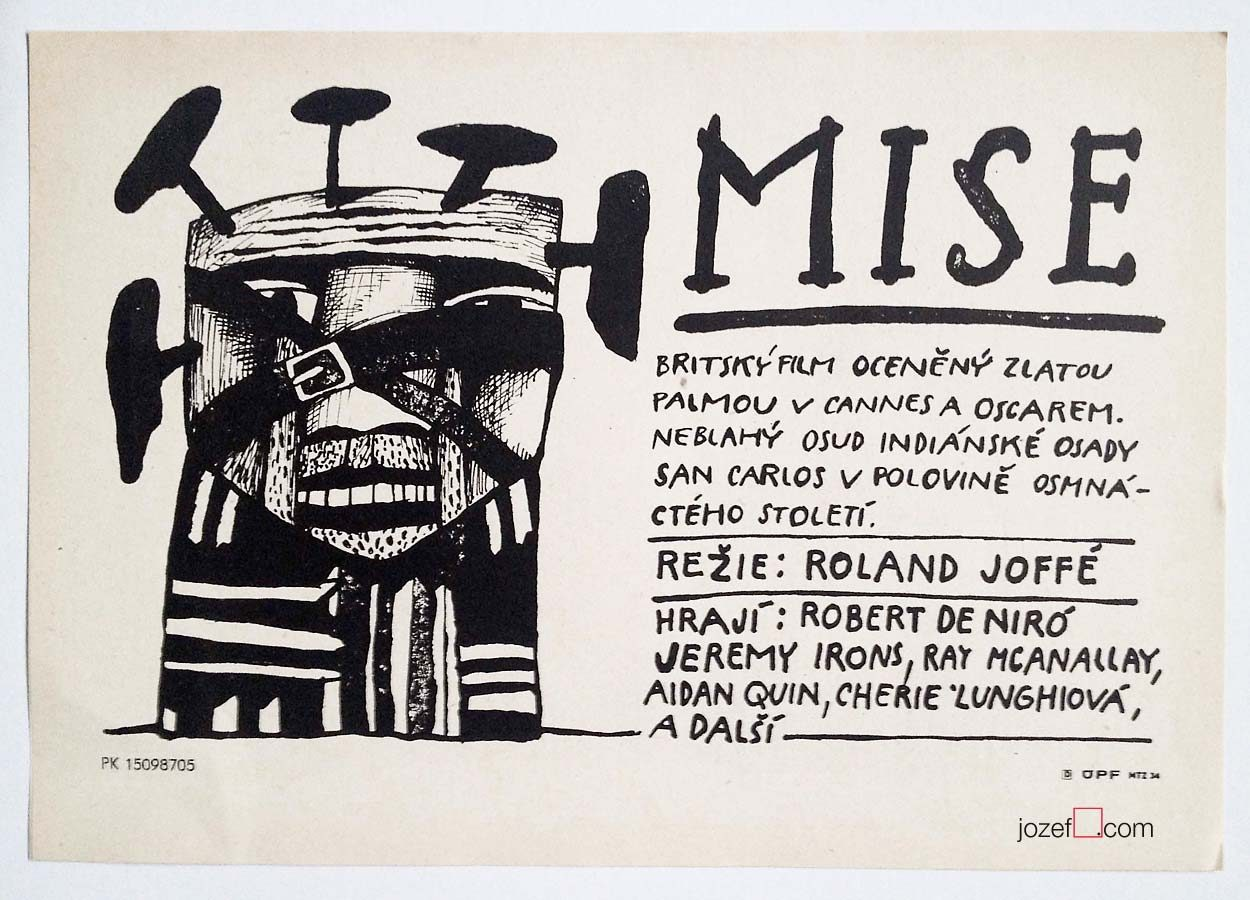 Movie Poster, The Mission, Robert de Niro, 80s Cinema Art
