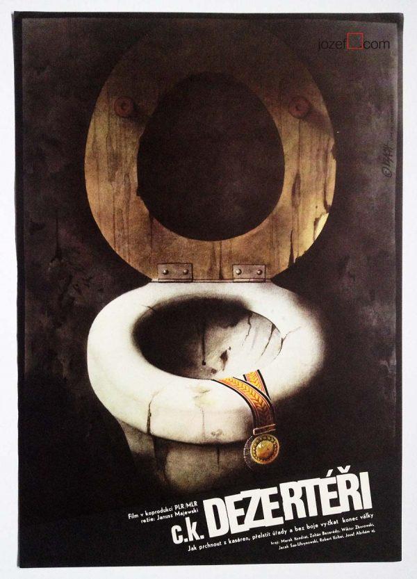 Movie poster for Polish Film, 1980s Poster design