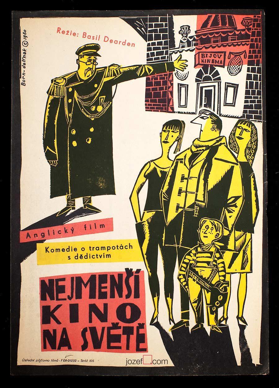 Film Poster, Adolf Born, 60s Cinema Art