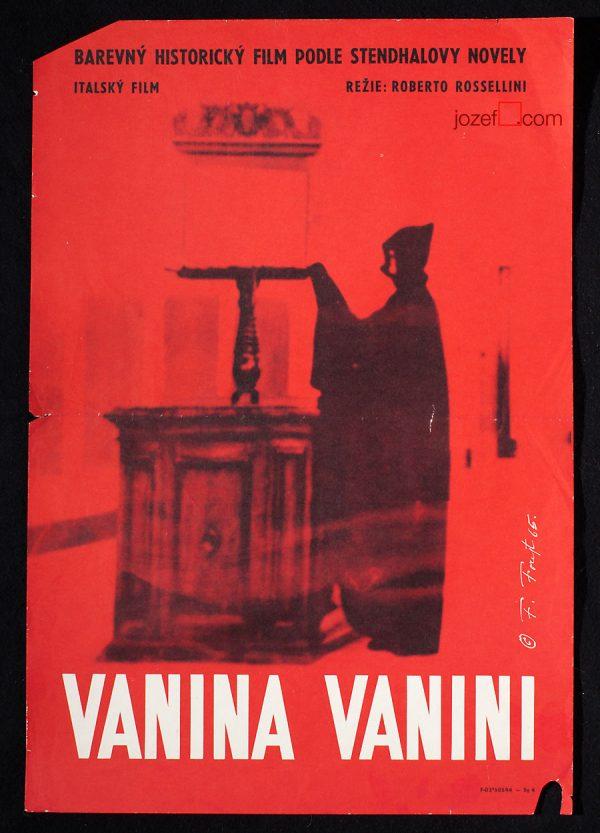 Minimalist movie poster, Roberto Rossellini, 60s poster