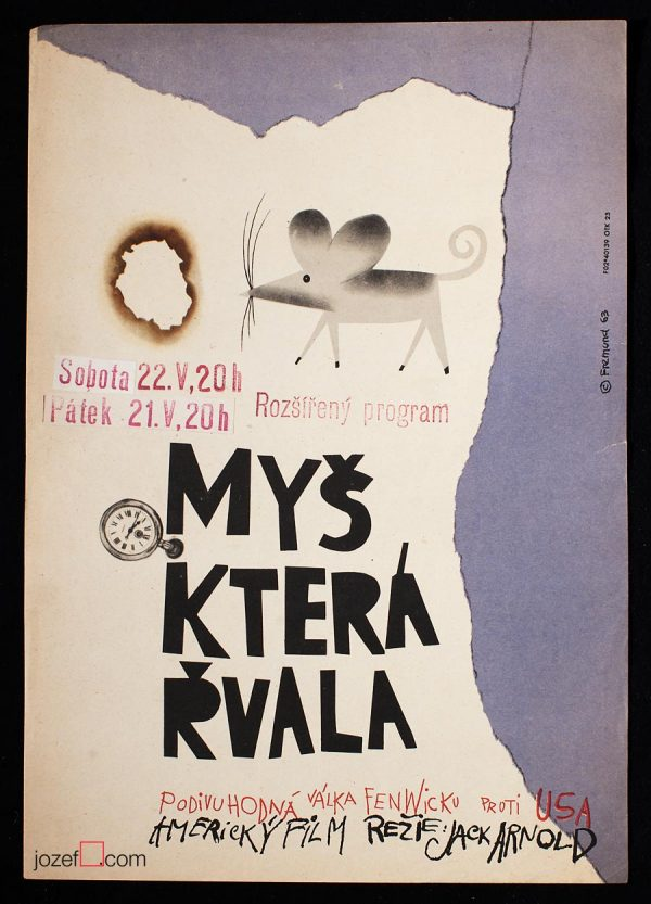 Film poster, The Mouse That Roared, 1960s Poster