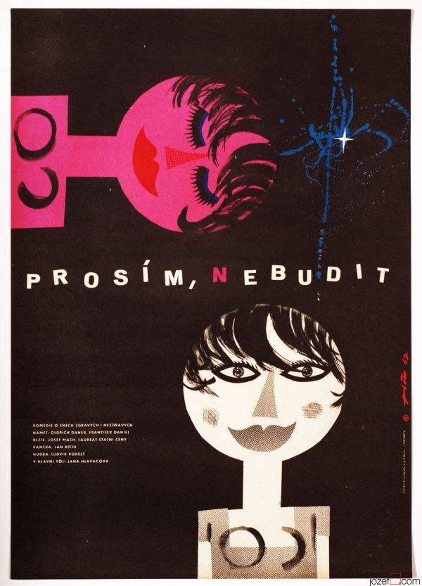 60s Poster Design, Jaroslav Fišer, Cute Cinema Art