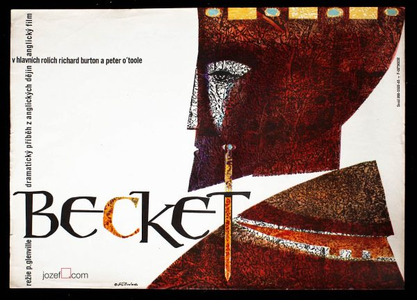 Movie poster Becket, 60s poster design