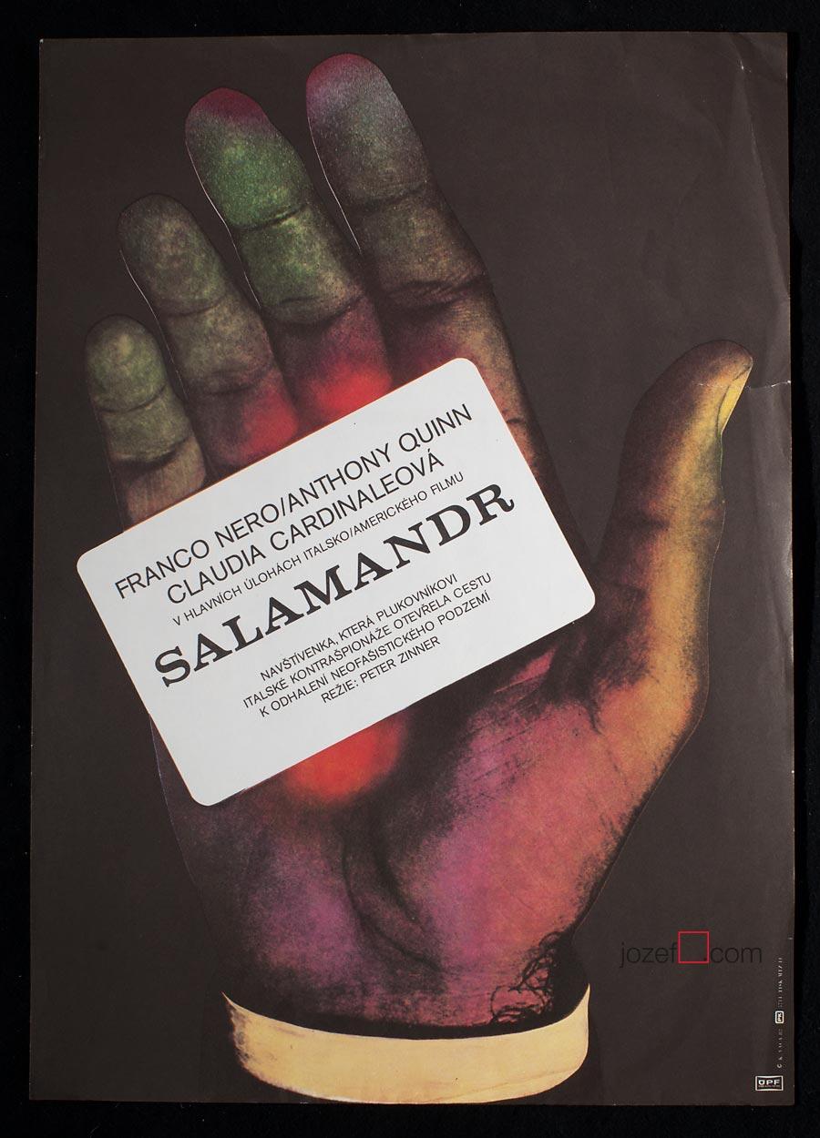 Salamander Poster, Film poster by Karel Vaca