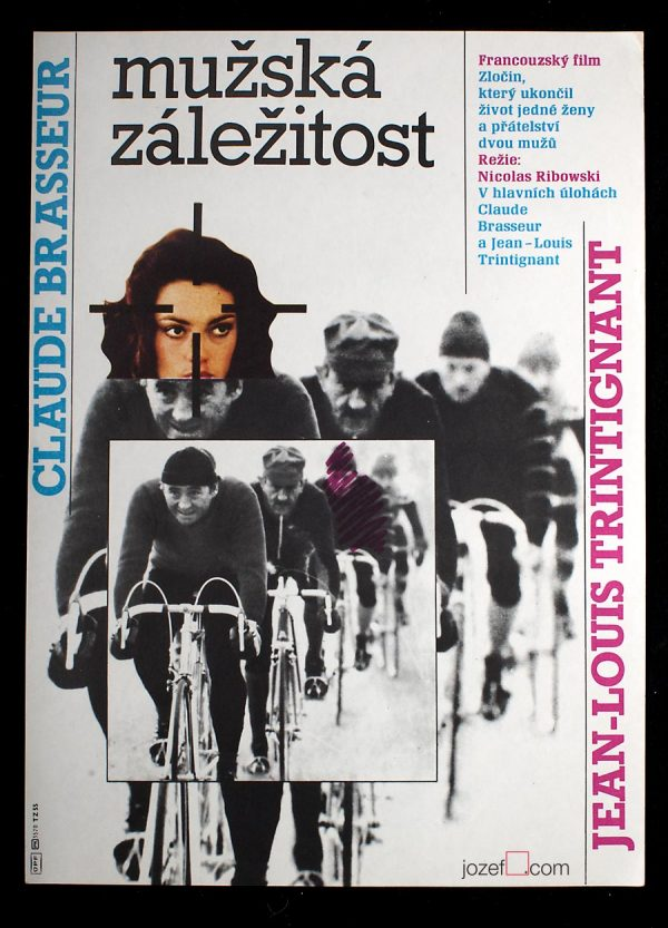 Vintage Movie Poster, Dead Certain. Ziegler Zdenek