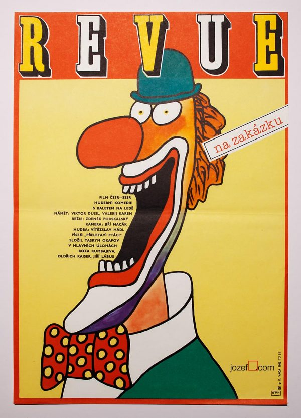 Clown Movie Poster, Karel Vaca
