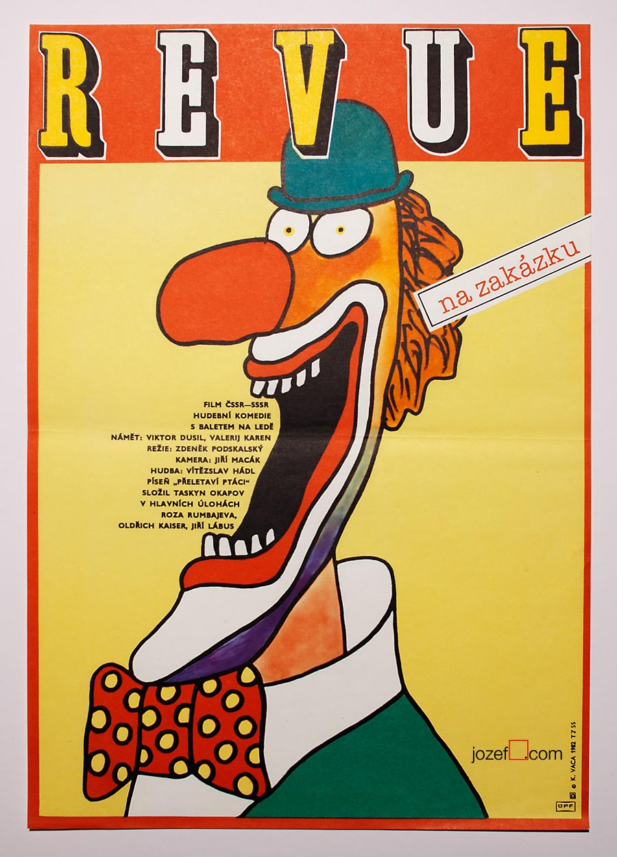 Clown poster, Poster Design by Karel Vaca