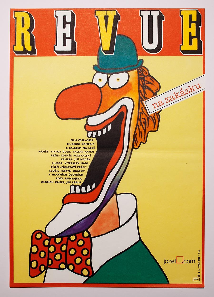 Clown Movie Poster, Karel Vaca