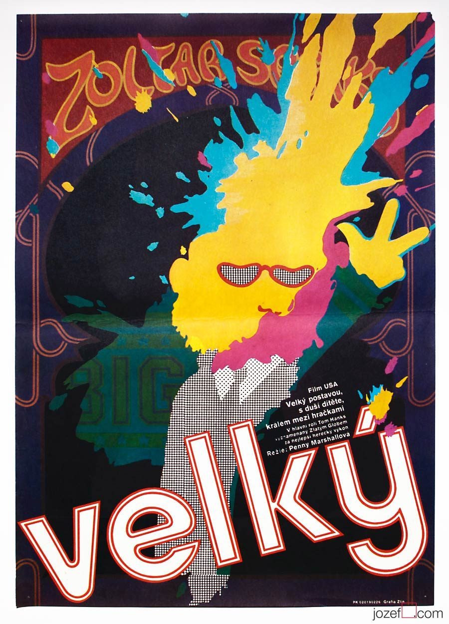 Movie Poster, Big, 1980s Poster Design