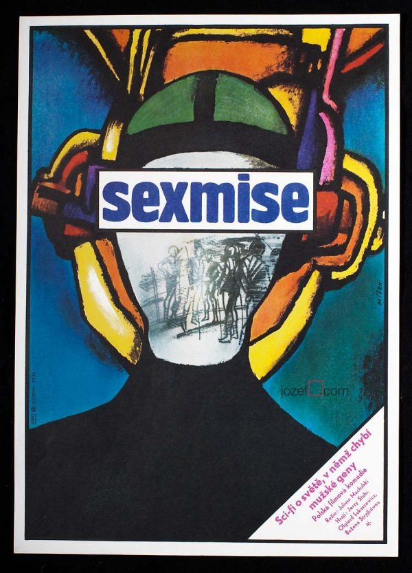 Sci-fi poster, Sexmission, 80s Poster