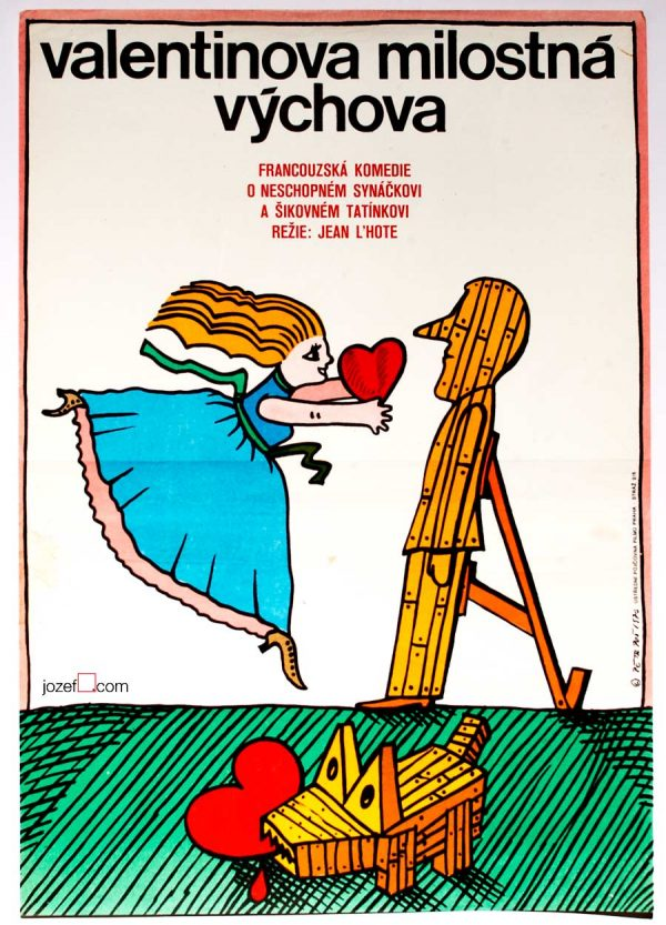 Movie poster, 1970s romantic poster