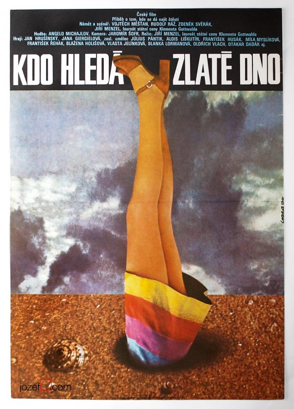 Who Looks For Gold, 1970s Movie Poster, Karel Vaca