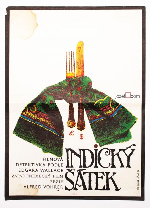 Movie Poster, The Indian Scarf, 1970s Poster Design
