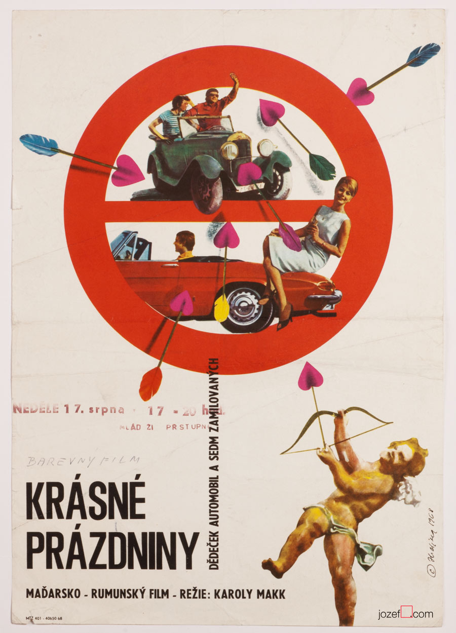 Crazy Holidays Movie Poster, 60s Collage Artwork