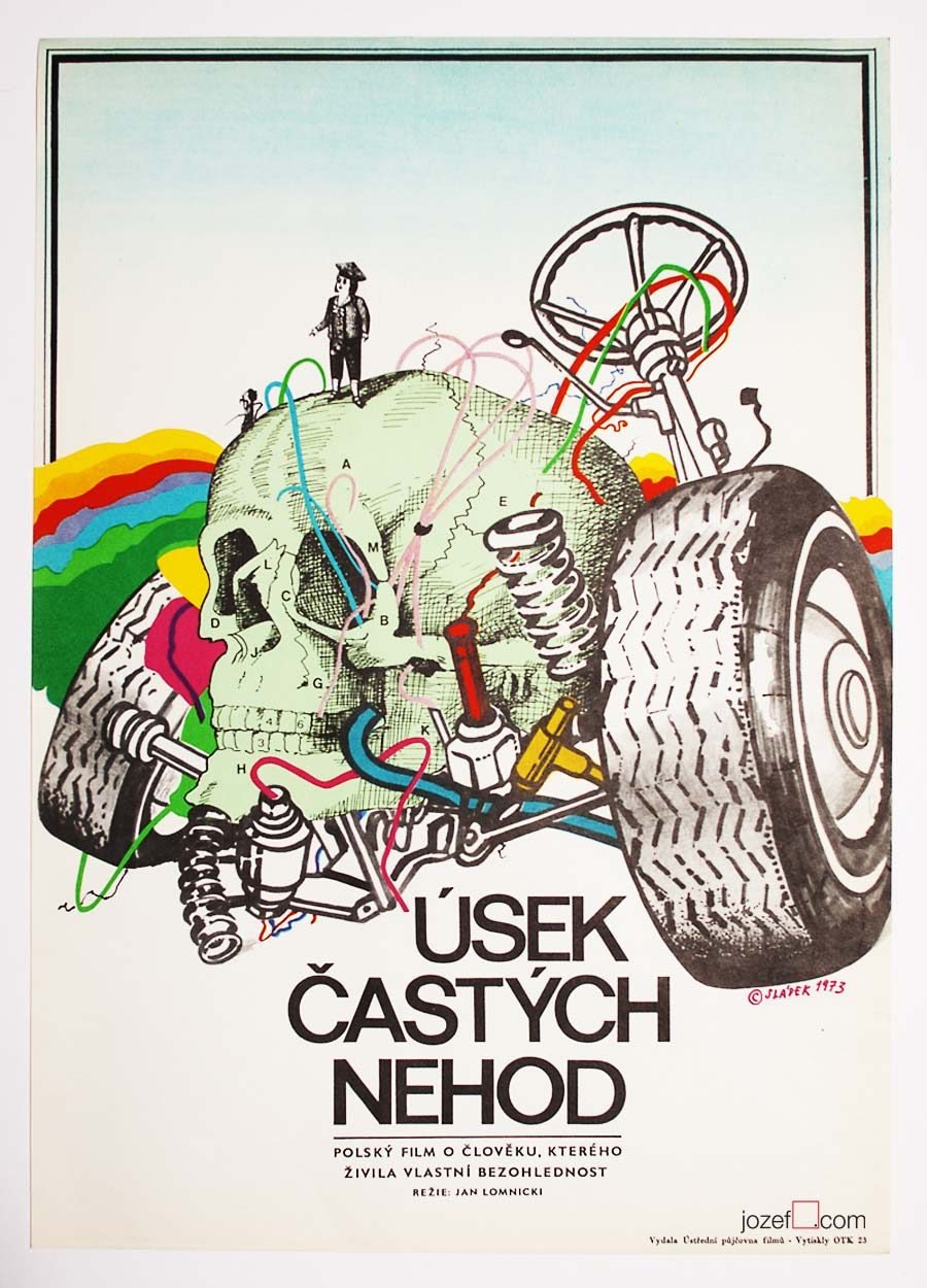 Film poster, Illustrated 1970s film poster