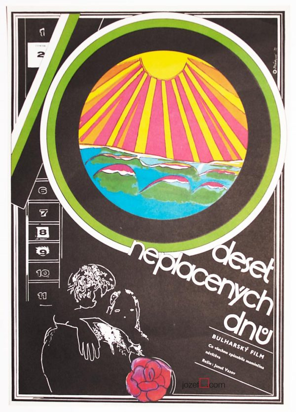 Movie poster, Olga Starkova, 1970s Cinema Art