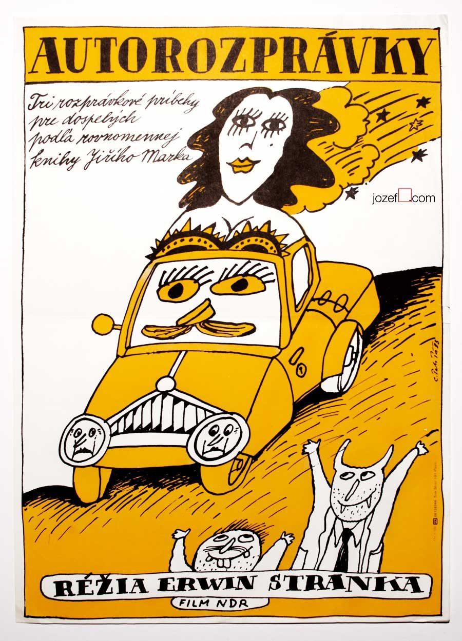Movie poster, Automarchen, 80s kids poster