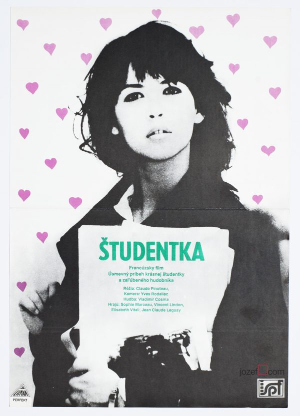 Sophie Marceau Movie Poster, L'étudiante