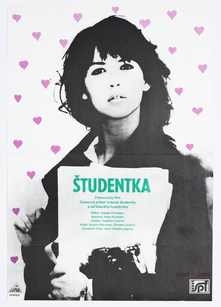 Sophie Marceau poster, L'étudiante