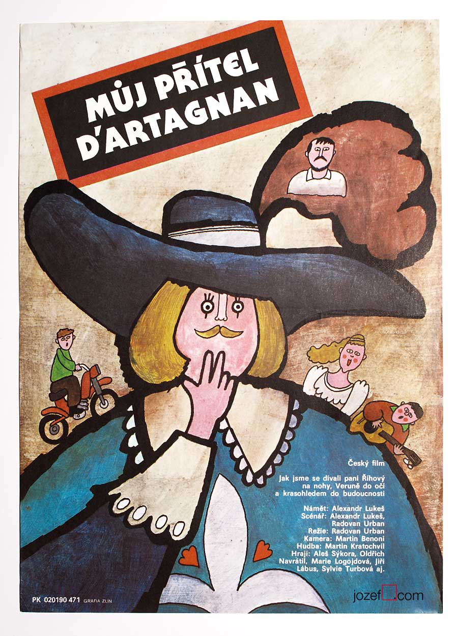 Illustrated movie poster, 1980 poster art