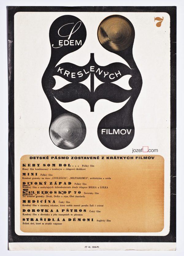 Seven Shorts, 1970s Kids Poster