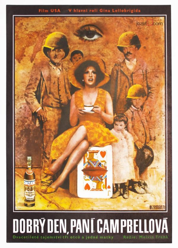 Movie Poster, Buona Sera, Mrs. Campbell, Vaclav Zeman
