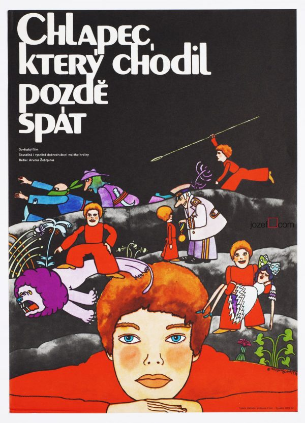 Illustrated poster, 1970s movie poster