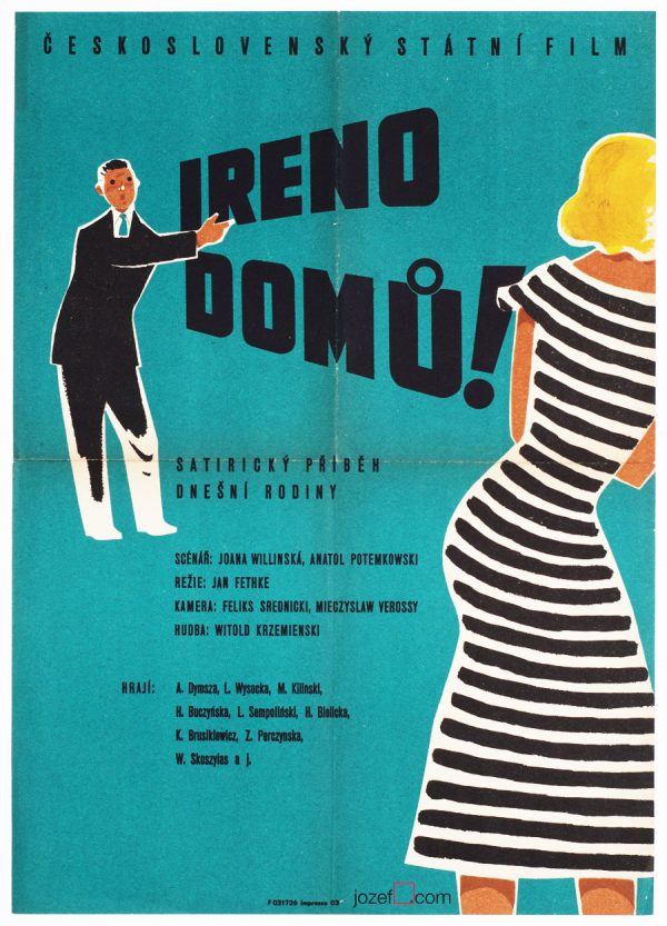 Minimalist movie poster, 50s Design