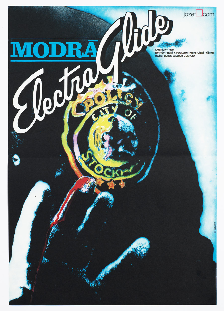 Electra Glide in Blue Poster, 70s Poster