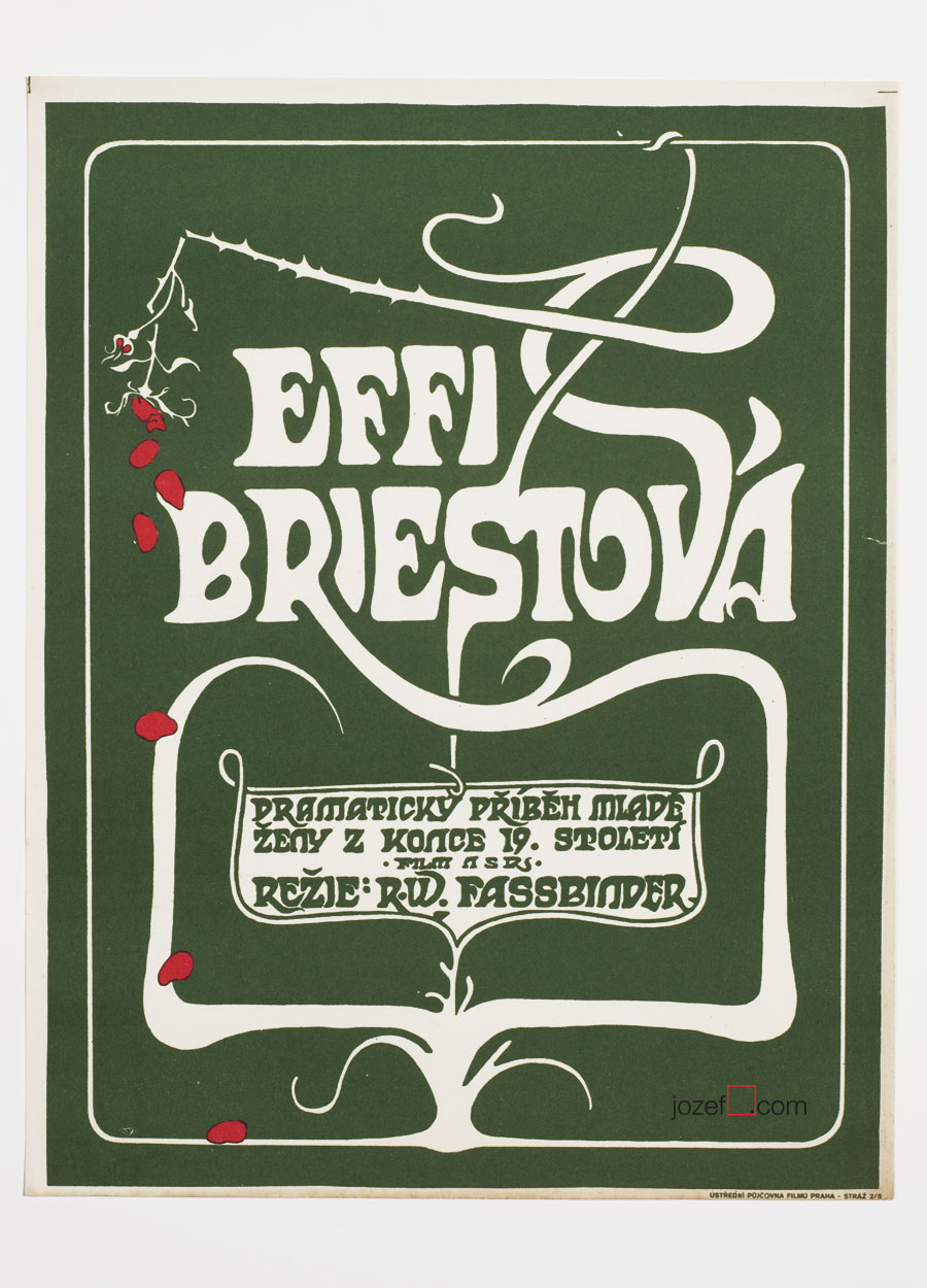 Effi Briest, Movie poster, 1970s