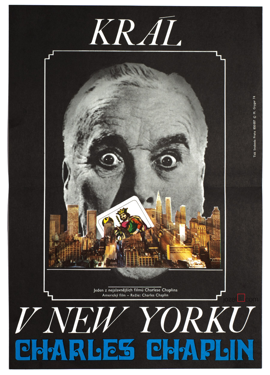 King in New York, Movie poster