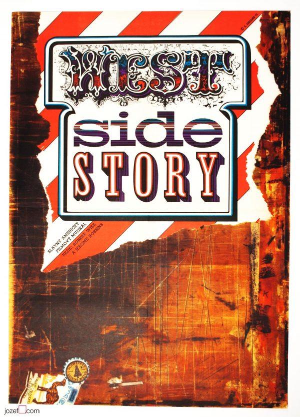 West Side Story Movie Poster, Zdenek Ziegler