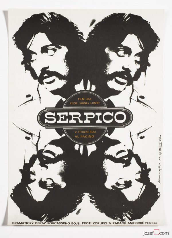 Serpico movie poster, 1970s poster art