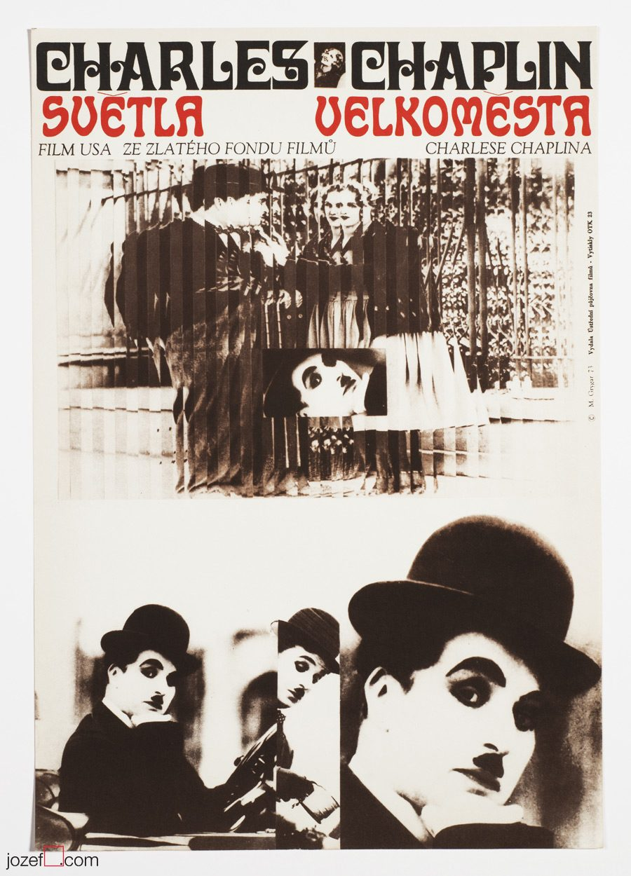 City Lights, Collage movie poster, Charlie Chaplin