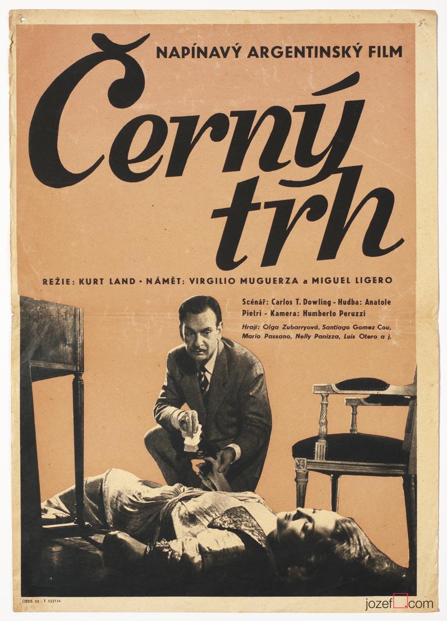 Rare poster, The Black Market, 50s Movie Poster
