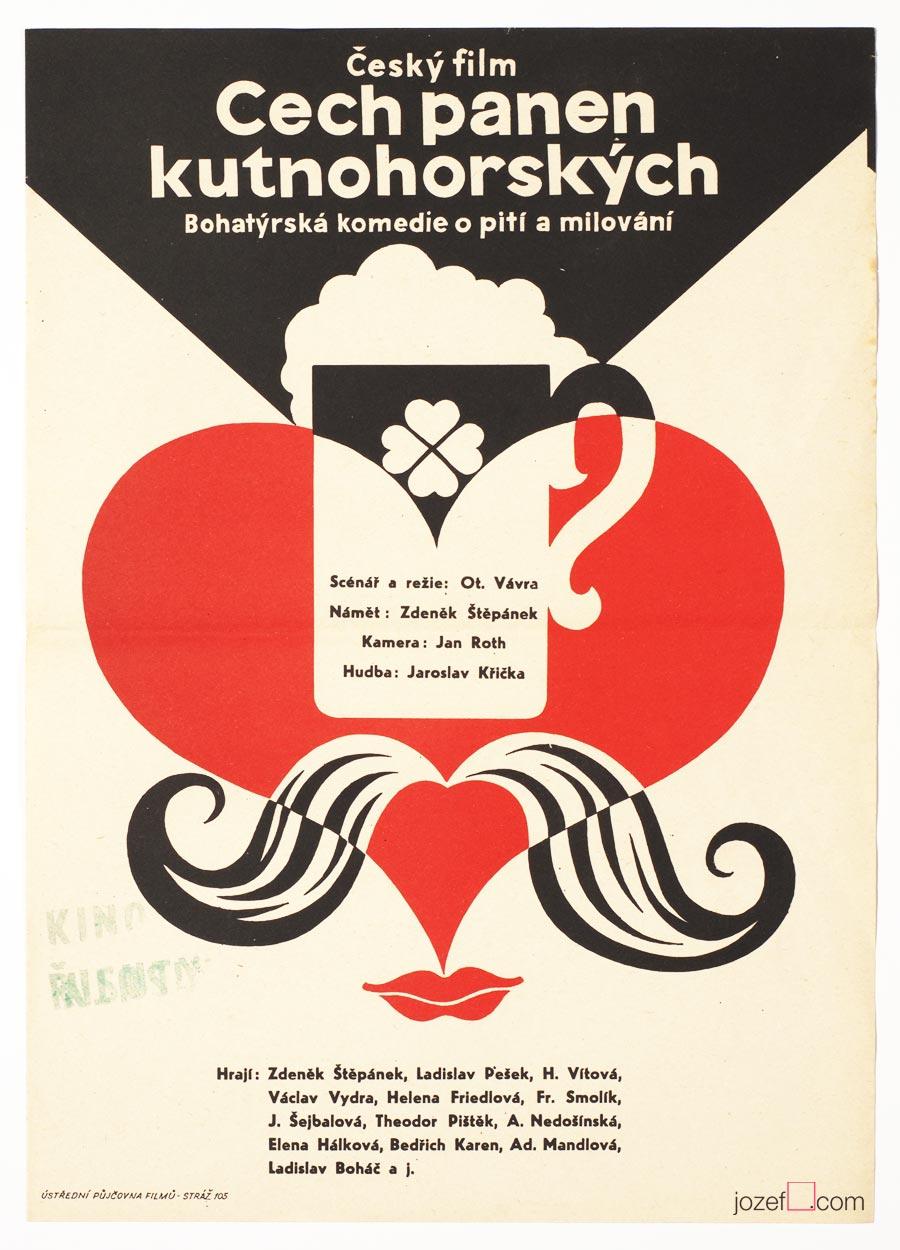 Vintage poster, Otakar Vávra, 90s Movie Poster