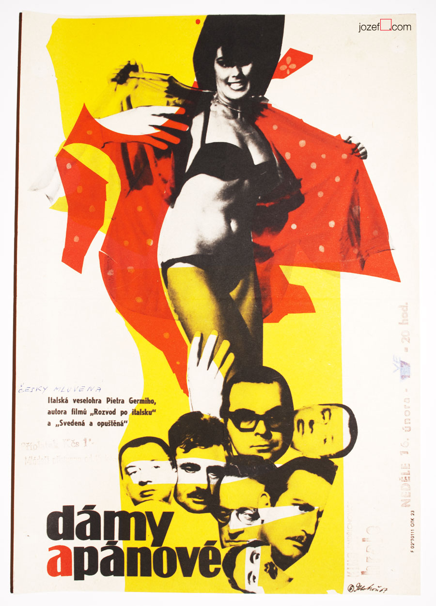 The Birds the Bees and the Italians, 1960s Movie Poster