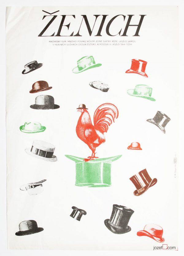Minimalist design, Milan Grygar, 1980s Poster