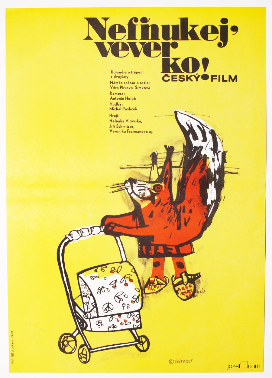 Kids movie poster, 80s poster