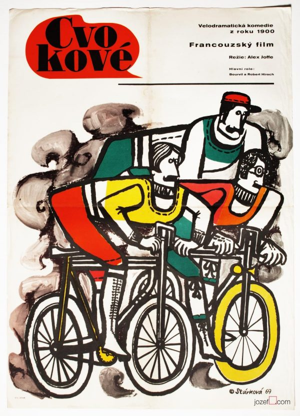 Cycling Poster, Les Cracks / The Hotshots, Movie Poster