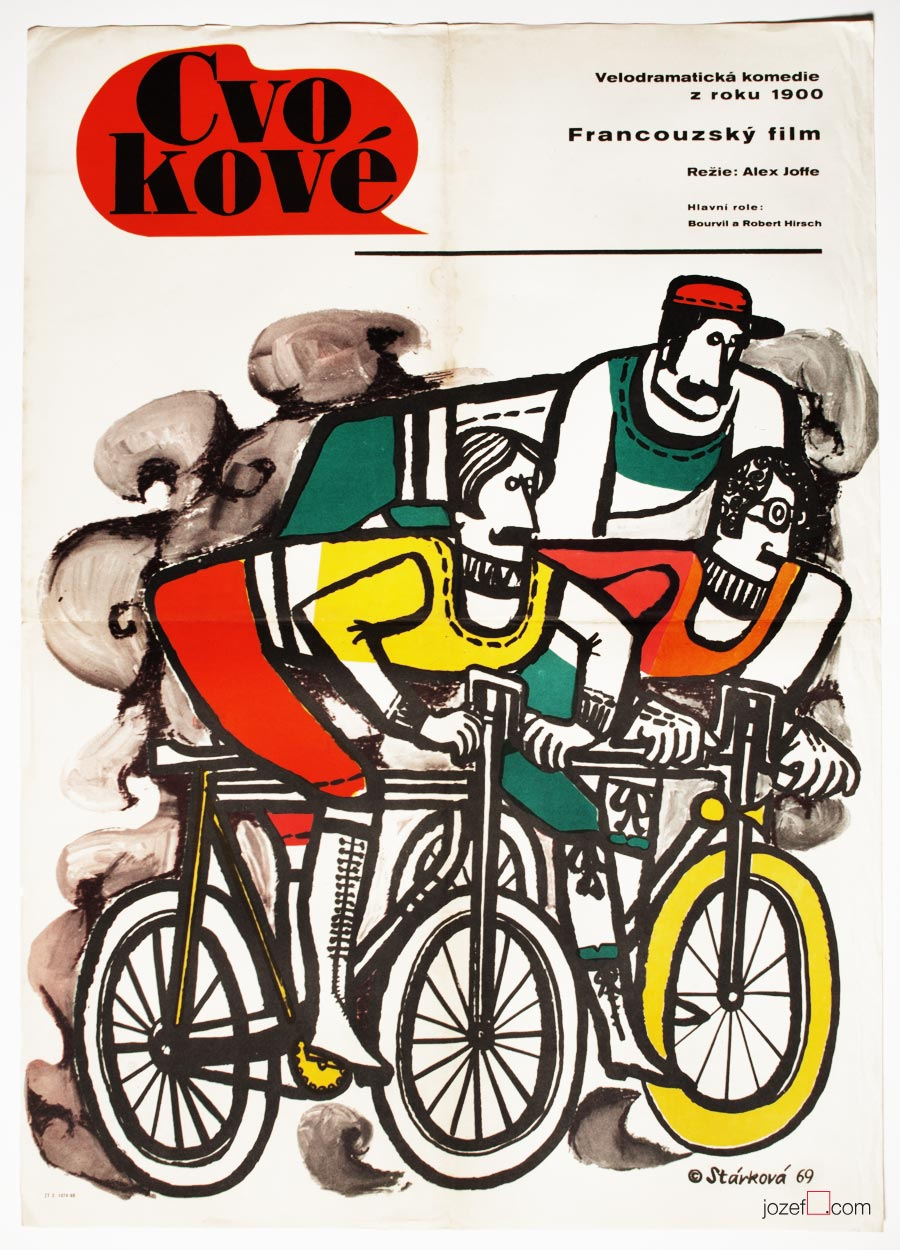 Cycling Poster, Les Cracks / The Hotshots, Movie Poster, Cycle Art