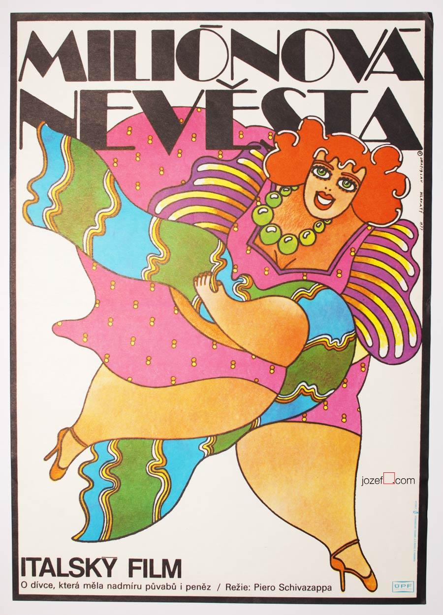 70s movie poster, Vratislav Hlavatý