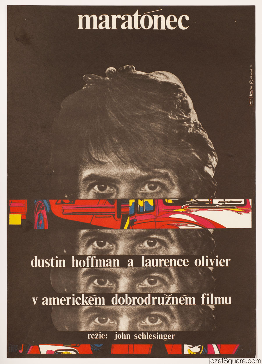 Marathon Man Movie Poster, 70s Poster Art