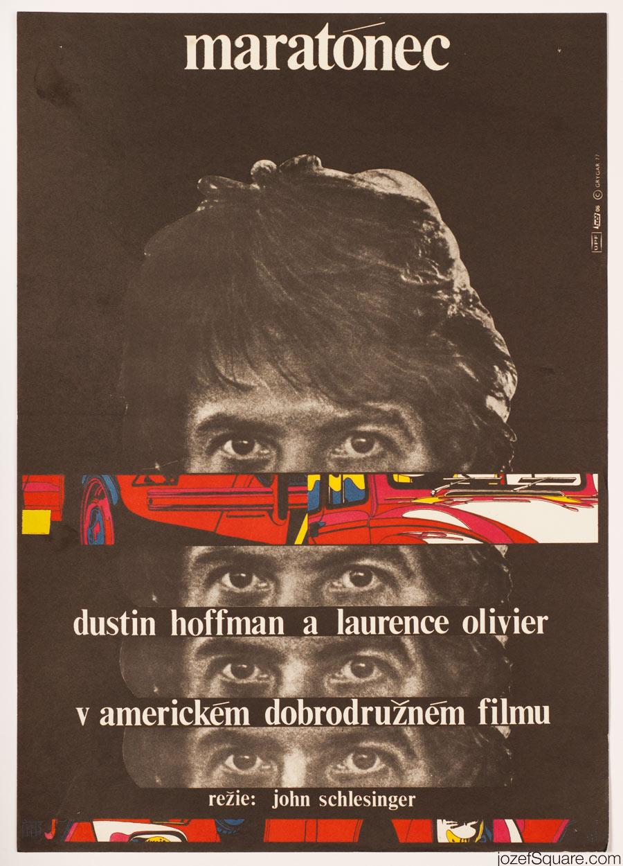 Marathon Man Movie Poster, 70s Poster Art